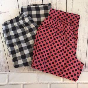 Cacique flannel sleep pants